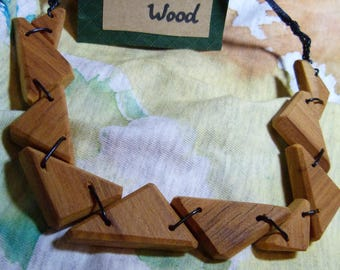 Triangle Wooden Necklace