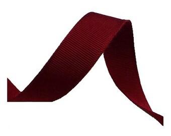 """5/8"""" Vintage 1930's Burgundy Wine Red Grosgrain Ribbon"""