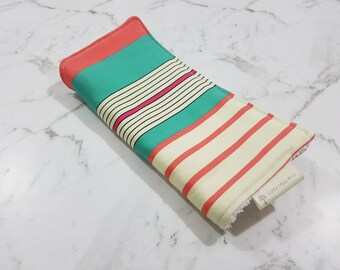 Mint/cream/peach strip baby burp cloths, dribble cloth, burp cloth, shoulder cloth, drool cloth, baby burp cloth, baby shower gift