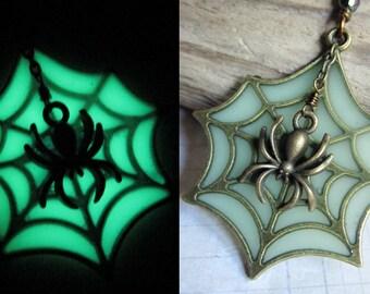 The Radioactive Spider - Glow In The Dark Halloween Spider Pendant