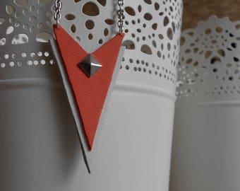 Necklace • silver • CIPIA / coral / white