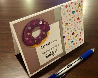 Donut, forgot your birthday, card