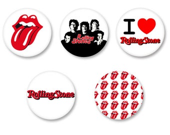 Lot Pins Ø25mm - o38mm Pinback Button Badge / Magnet o38mm The Rolling Stones