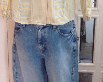 Tommy Hilfiger boyfriend mid to high rise jeans size 8