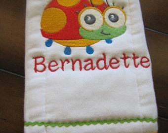Custom Burp Cloth with Animal and Child's Name