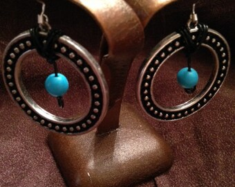 Repurposed earrings with Turquoise Beads