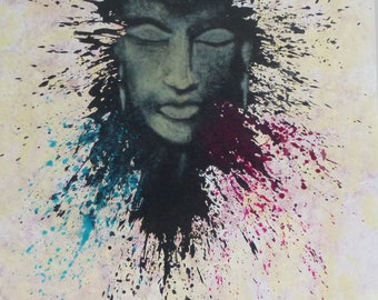 Buddha, art, peace, love, zen, colors, print, decoration