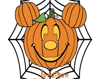 Halloween Disney Mouse Spiderweb Names H1-Digital Clipart-Pumpkins-Gift Tag-Party-CakeTopper-Scrapbook-Jewelry-T-Shirt-gift card.