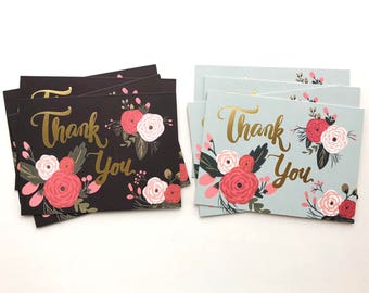 Bundle Deal - 8 Thank You Cards - Greeting Card