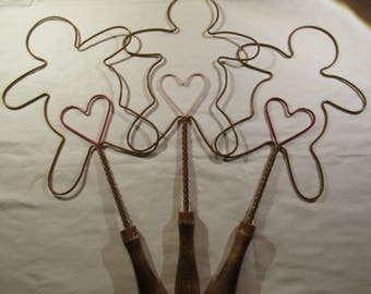 Antique Rug Beaters - Gingerbread Man or Kitty Cat Shaped