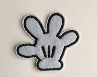 Mickey Mouse glove Iron on patch