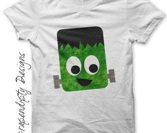 Frankenstein Iron on Shirt PDF - Halloween Iron on Transfer Tee / Kids Halloween Shirt / Cute Baby Clothes / Toddler Boys Clothing Tops IT1