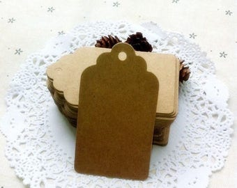 Set of 10 large kraft 350gsm for scrapbooking. Dimensions 7cm x 4 cm