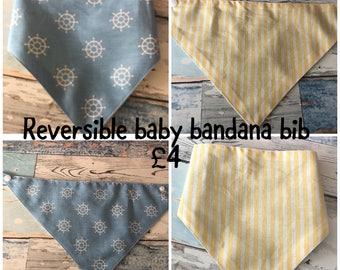 Reversible Baby Bandana Bib