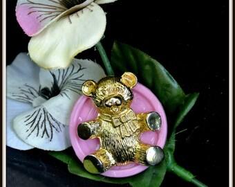 Thumbtack, Push Pin, Teddy Bear Button Tack, Baby Shower Gift, Corkboard Accessory, Office Decor