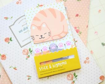 Cat Stick & Big Memo Sticker Notes