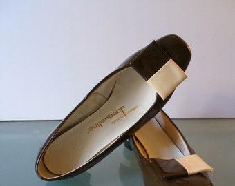 Vintage Jacqueline Pilgrim Buckle Shoes Size 8B US