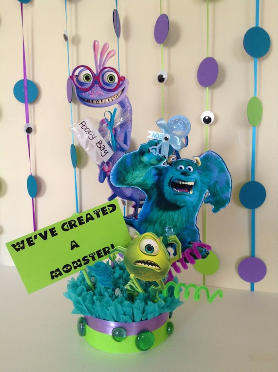 Monsters Inc Baby Shower Centerpiece Baby Shower Centerpiece