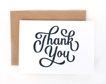 Letterpress Thank You Card | Stationery | Greeting Card | Thanks