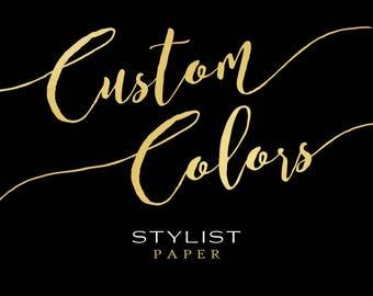 CUSTOM COLORS for ANY Art Print Design