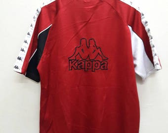 Vintage Kappa Big logo embroidery Spell Out Tshirts Jersey hip hop swag Sports athletic Large Size