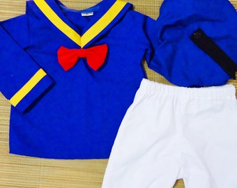 Donald Duck Costume - Donald Duck Party - Donald Duck Costume - Cruise - Outfit- Halloween Outfit - Birthday Costume - toddler costume - Set