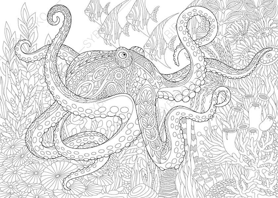 ocean world octopus 3 coloring pages animal coloring book. Black Bedroom Furniture Sets. Home Design Ideas