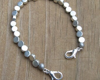 Small Silver Medical Alert Bracelet