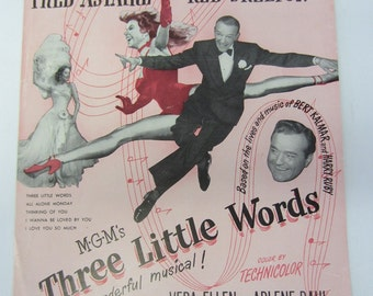 "Vintage 1950 ""Thinking of You"" Sheet Music, Fred Astaire."