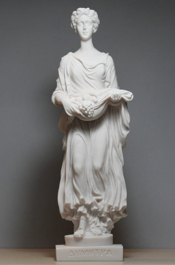 Demeter Ceres Goddess Mother Of Nature Cast Marble Statue