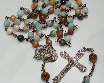 Saint Joan of Arc Catholic Lifetime Rosary ~ FREE SHIPPING in USA