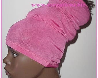 HeadTube-HeadBand-Locs-Natural Hair Accessories-Head wrap - Headwrap - Pink-Fuchsia