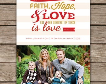 1 Corinthians 13:13 - Custom Photo Valentines Card