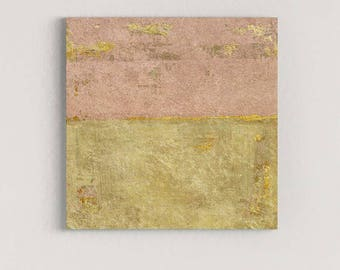 Pink Abstract Art, Canvas Painting, Contemporary Art Painting, Pink Canvas Art, Abstract Art, Pink Gold Art