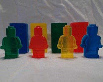 50 Lego Inspired Bricks and Minifigure Soaps
