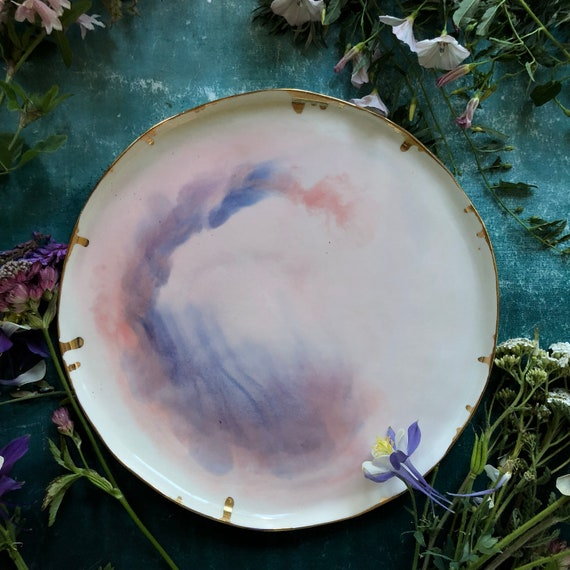 XL Watercolor series  porcelain plate