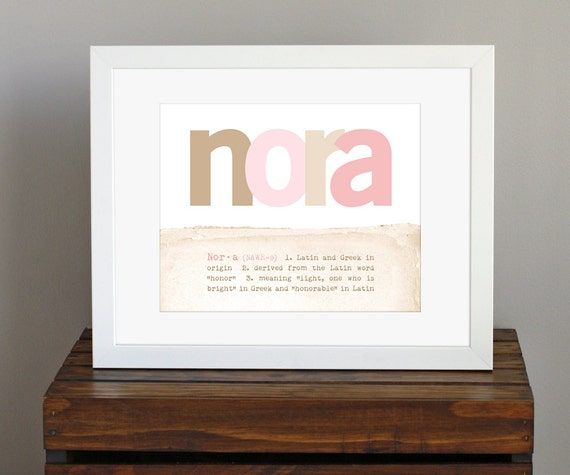 Customized baby name art print with name meaning like this item negle Choice Image