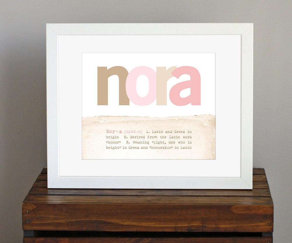 Customized baby name art print with name meaning zoom negle Gallery