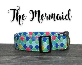 Mermaid Dog Collar, Cute Dog Collars, Collars for Dogs, Mermaid Collar, Collar for Girl Dog, Girl Dog Collars, Sparkle Collar for Dogs