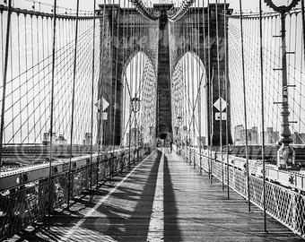 Brooklyn Bridge, New York City Photography, NY Print, Brooklyn Bridge Art, NY Black and White, Manhattan Print, NYC Art, Wall Art, Home