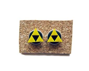 Sale, Legend of Zelda Stud Earrings,Triforce Stud Earrings,Geeky Studs,Christmas Gift,Polymer Clay Stud Earrings,Legend of Zelda Jewelry