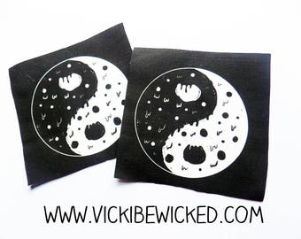 Melty Pizza Yin and Yang Fabric Patch