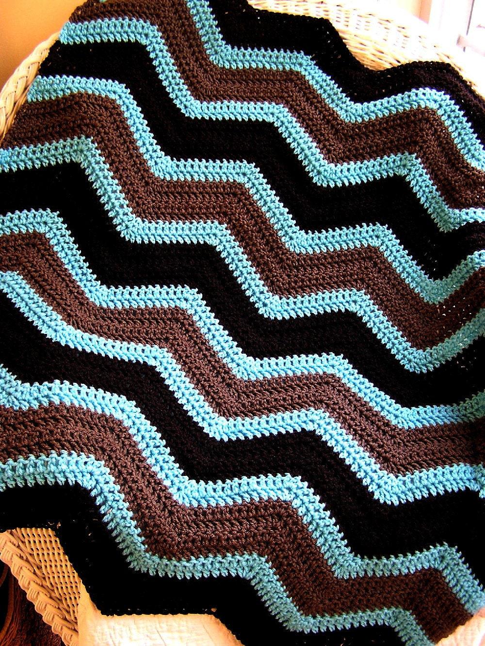 neue Chevron Zick Zack Baby Decke häkeln stricken afghanischen