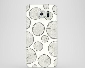 Tree Trunks mobile phone case / Hand drawn case / Samsung Galaxy S7, Samsung Galaxy S6, Samsung Galaxy S6 Edge, Samsung Galaxy S5