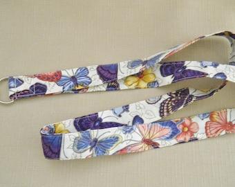 Butterflies - handmade fabric lanyard