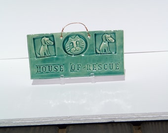 House of Rescue Tile in Turquoise