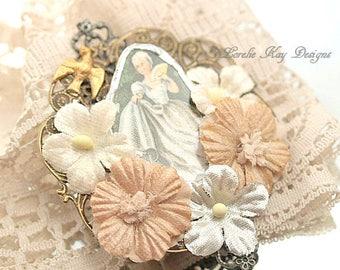 Marie Style Brooch Broken China Women Marie Antoinette Inspired Romantic Shabby Broach Pin
