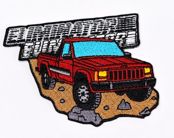 Jeep Comanche Pickup Truck Patch - Colorado Red Eliminator Cherokee Wrangler 4x4 Offroad
