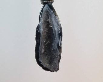 Dark Geode Necklace