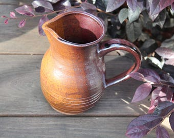 ceramic pitcher, wine pitcher, water pitcher, stoneware pitcher